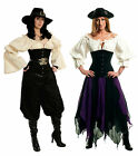 RENAISSANCE BLACK BONED WOMEN'S CORSET COSTUME DRESS-UP PIRATE WENCH UNDERBUST
