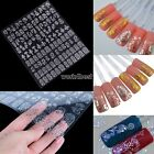 3D 108PCS Gold foil Flower Nail Art Tips Stickers Decal Decoration stamping