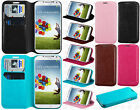 Samsung Galaxy S4 S IV Premium Wallet Case Flap STAND Cover + Screen Protector