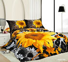 Floral Quilt/Duvet/Doona Cover Set King Queen Double Size Bed New Cotton Linen