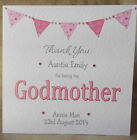 Handmade Personalised Thank You For Being My Godmother Godfather Godparents Card