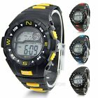 Fashion Luxury Sport Waterproof LCD Digital Clock Mens Wrist Watch Alarm Clock