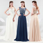 Charming Lace Long Chiffon Evening Formal Party Ball Gown Prom Bridesmaid Dress
