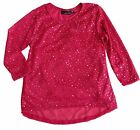 new MISS UNDERSTOOD by IKEDDI girls ROSE & SILVER SEQUIN HOLIDAY TOP w/ CAMI