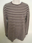GAP Men's Brown Striped Thermal Crew Neck Shirt Size XS NWT