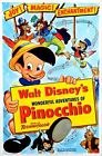 Vintage Disney Pinocchio Movie Poster A3/A2/A1 Print