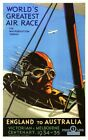 1934 England to Australia Air Race MacRobertson Trophy  Poster A3/A2/A1 Print