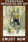 World War One Boy Scout Recruitment Poster A3/A2/A1 Print