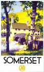 Vintage GWR Somerset Railway Poster A3/A2/A1 Print
