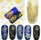3D Flower Gold Decal Stickers Nail Art Tip DIY Decoration Stamping Manicure Hot