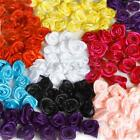 50/100 Satin Ribbon Rose Flower Rosebud Craft Appliques Wedding Party Decoration