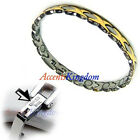 HUGS & KISSES STAINLESS STEEL MAGNETIC GOLF BRACELET B