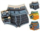 6 Pairs Boys Boxer Shorts, Bright Check Cotton Designer Trunk Boxers Underwear