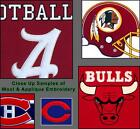 "Choose Your NCAA Team 8"" x 32"" Embroidered Wool Vertical Man Cave Banner Flag"