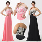 Long Sequins Chiffon Gowns Evening Dress Bridesmaids' Prom Formal Party Dresses