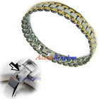 MENS STAINLESS STEEL MAGNETIC THERAPY GOLF BRACELET B