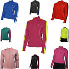 More Mile Hi-Viz Half-Zip Womens Ladies Long Sleeve Running Cycling Gym Top