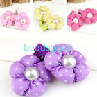 2pcs Cute Pearl Sun Flower Fabric Hair Clips for Girl Baby Kids Children Design