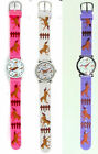 NEW Jumping Horses Girls Equestrian Pony Watch by Geneva Pink White or Purple