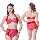 Banned Clothing Red White Gingham Retro Swimsuit Vintage High Waisted