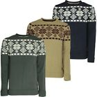 Soul Star Men's Crew Neck Knitted Jumper Slim Fit Nordic Winter Fashion Pullover