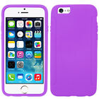 Apple iPhone 6 / 6s Rubber SILICONE Soft Gel Skin Case Cover + Screen Protector