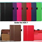 "New Amazon Kindle Fire HDX 7""inch Fold PU Leather Folio Stand Case Smart Cover"