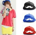 Women's Men's Funny Mustache Adjustable Buckle Hip Hop Snapback Baseball Cap Hat