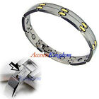 MENS JEWELRY STAINLESS STEEL MAGNETIC GOLF BRACELET F