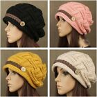 Women Winter Warm Beanie Chunky Knit Baggy Ski Hat Stocking Cap Skully Headwear