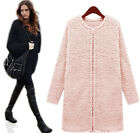 Fashion Womens Warm Woolen Over Coats Thick Plush Coat Plus Size Jacket  Coat