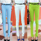 6 Colors Womens Sexy Tight Stretchy Leisure Office Work Pencil Pants Trousers