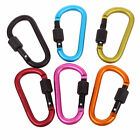 ~6 Style 0.99 Outdoor Sports Hiking Cave Screw Lock Carabiner Hook Keyring Clip