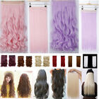 All length 1pcs straight/curl/wavy Purple Pink Blonde RED Clip In Hair Extension
