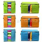 2 Sizes Non-woven Quilt Blanket Pillow Underbed Storage Bag Box Container Zipper