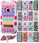 For Apple iPhone 6 4.7 Rubber IMPACT TUFF HYBRID KICK STAND Case Phone Cover