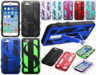 Apple iPhone 6 4.7 Dollar Sign Hybrid Rubber Skin Case Kick Stand Phone Cover