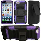 "For Apple iPhone 6 4.7"" Cell Phone Case Hybrid Hard Cover + Belt Clip Holster"