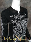 Womens VOCAL Zip-Up Jacket with Crystal Sleeves & Faux Leather Collar