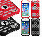 Apple iPhone 6 4.7 Brick Hybrid Dual Layered Skin Case Cover + Screen Protector