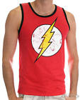 The Flash Tanktop Cracked Logo Roter Blitz - rot, 100 % Baumwolle.