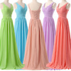 CHEAP~Women Long Bridesmaid Dresses Evening Party Prom Wedding Ball Gown Dresses