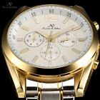 Ks 4 Colors Automatic Mechanical Mens Golden Silver Date Day Office Wrist Watch