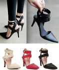 x7 Ladies Womens High Heel Point Toe Stiletto Sandals Ankle Strap Court Shoes