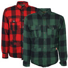 Mens Tokyo Laundry Fleece Lined Check Shirt Warm Checkered Button Top