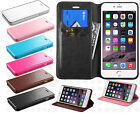 Apple iPhone 6 4.7 Premium Wallet Case Pouch Flap STAND Cover + Screen Protector