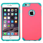 Apple iPhone 6 6S Plus HARD Hybrid Rubber Silicone Case Cover + Screen Protector