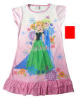 Disney Frozen Elsa Anna Enfants Filles Jupe Pyjama Robe Girls Dress 3-9 ans Rose