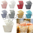 12X Filigree Vine Cake Wrappers Wraps Cases Wedding Birthday Baby Shower O