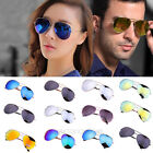 Fashion Unisex Women Men Aviator Retro Mirror Lens Eyewear Sunglasses Glasses